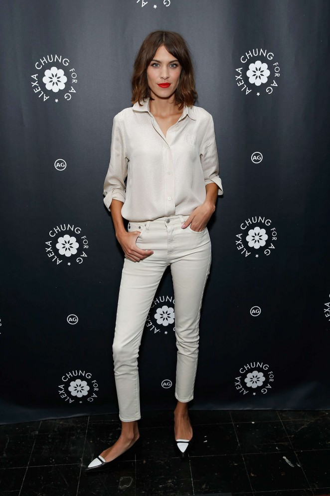 Alexa Chung: AG Launch Party -07