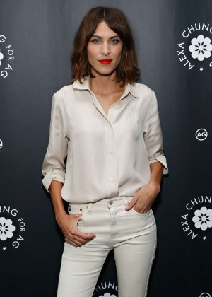 Alexa Chung - AG Launch Party in New York City