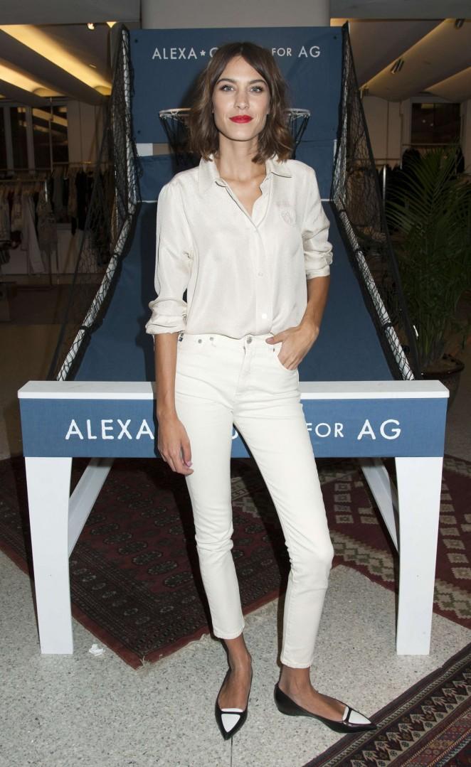 Alexa Chung: AG Launch Party -14