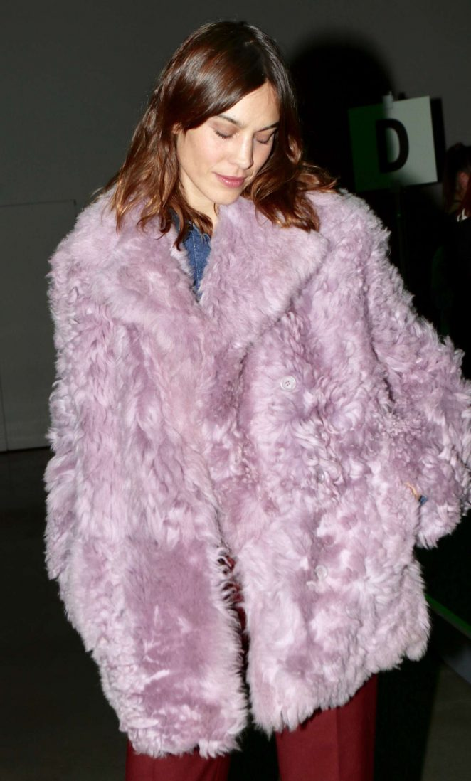 Alexa Chung - Arrives at Adam Selman Show in New York