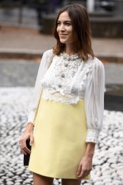 Alexa Chung - Arriving at Miu Miu SS 2020 Show in Paris