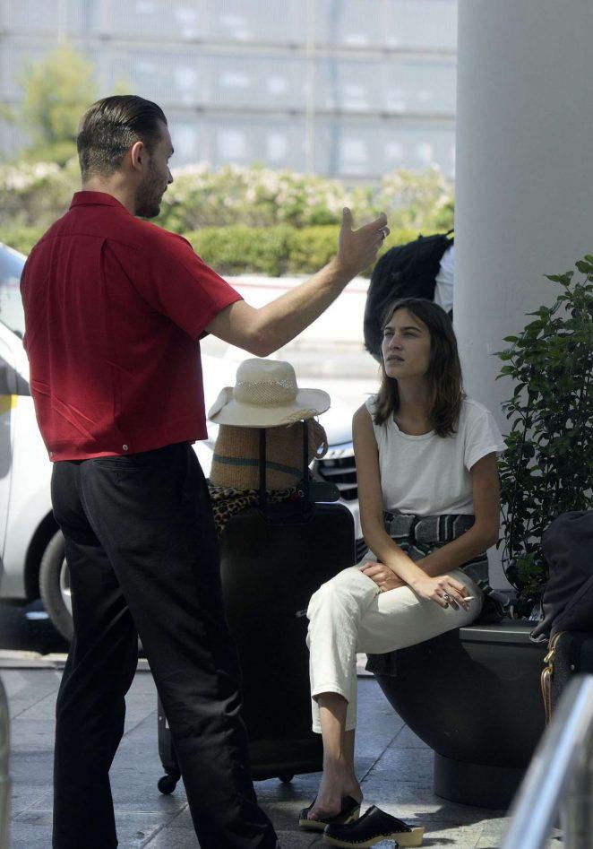 Alexa Chung at Airport In Majorca