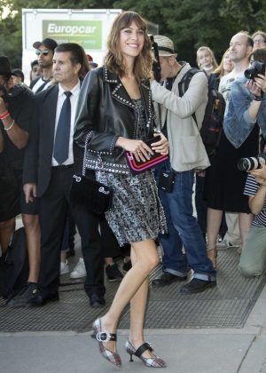 Alexa Chung at Miu Miu Cruise Collection Cocktail in Paris