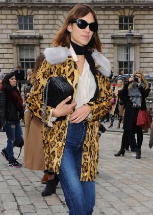 Alexa Chung at Somerset House during London Fashion Week