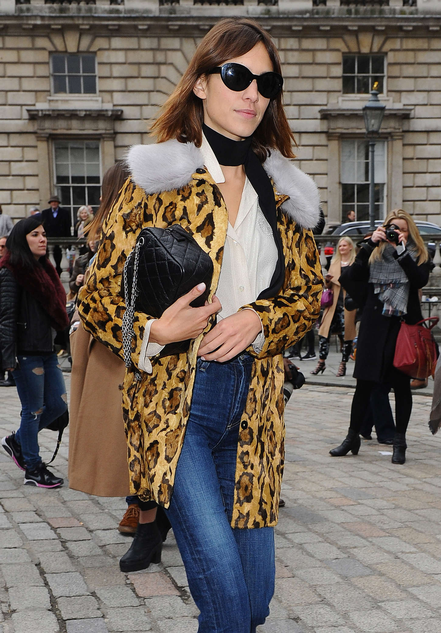 Alexa Chung At Somerset House During London Fashion Week