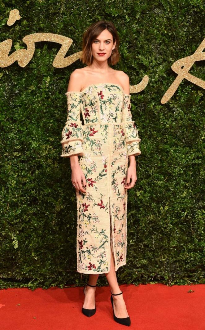 Alexa Chung - British Fashion Awards 2015 in London