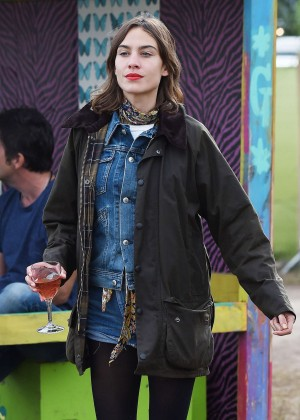Alexa Chung - Day 3 of the Glastonbury Festival in Glastonbury