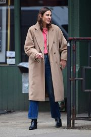 Alexa Chung - Getting brunch at The Smile in Soho