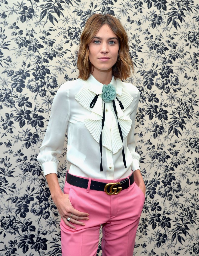 Alexa Chung - Gucci Timepieces & Jewelry as brand ambassador in Los Angeles