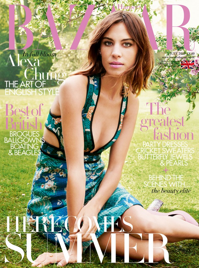 Alexa Chung - Harper's Bazaar UK Magazine (July 2015)