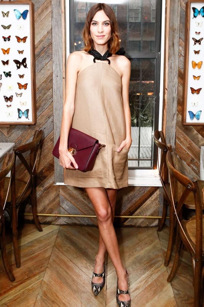 Alexa Chung - Hosts Longchamp Dinner in NY