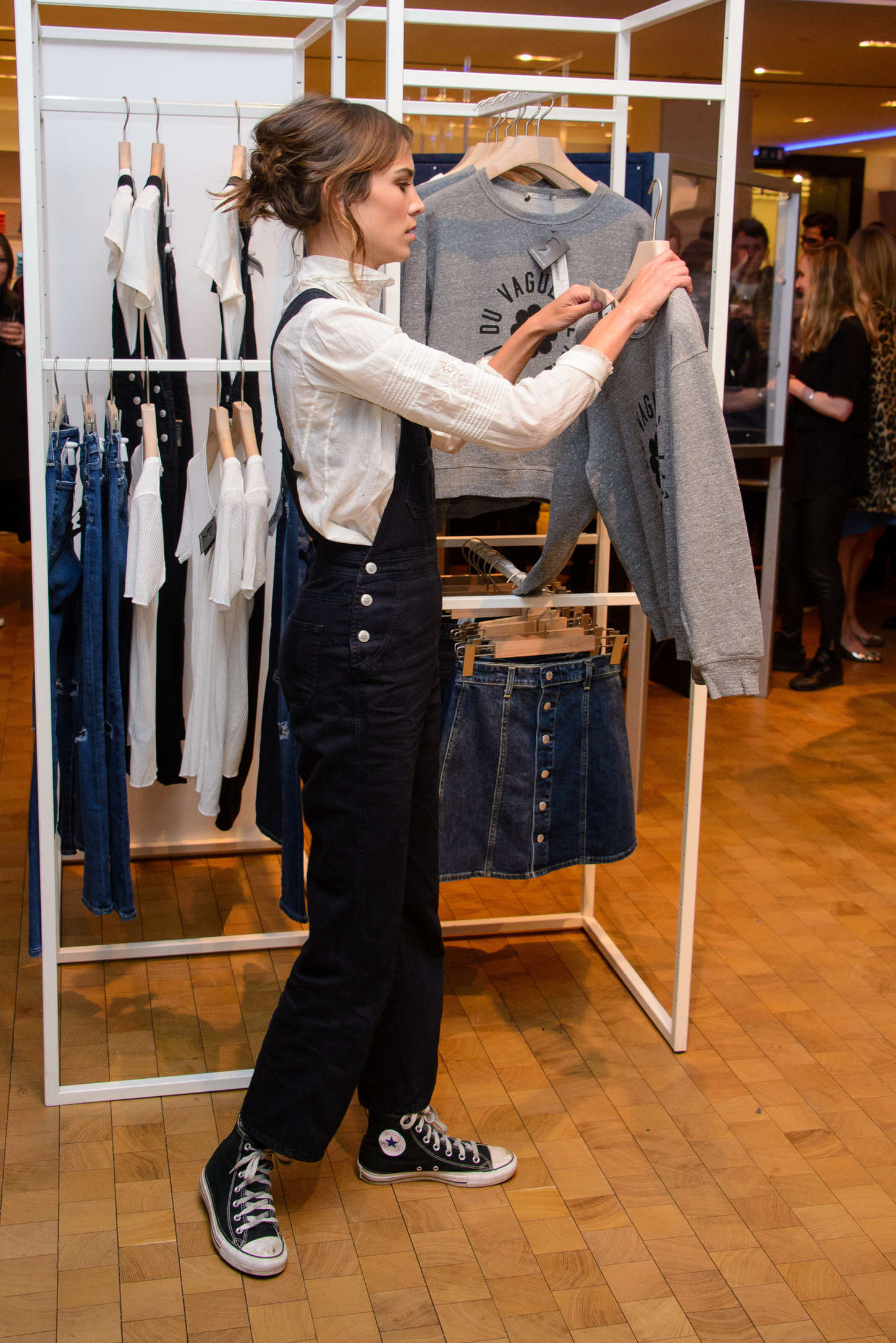 50f3de8d2b6 Alexa Chung  Launches her AG Jeans Collaboration -04