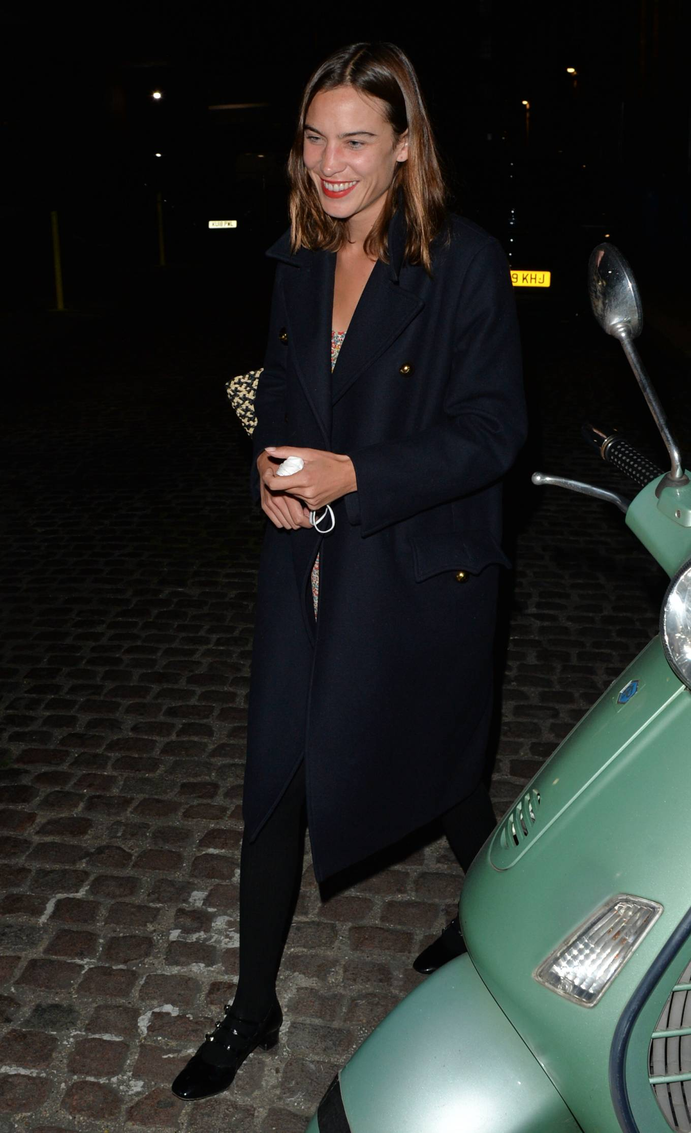 Alexa Chung - Leaving The Chiltern Firehouse in London