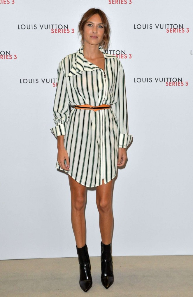 Alexa Chung: Louis Vuitton Series 3 VIP Launch -06
