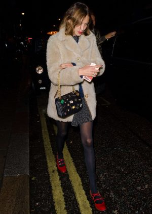 Alexa Chung night out in London