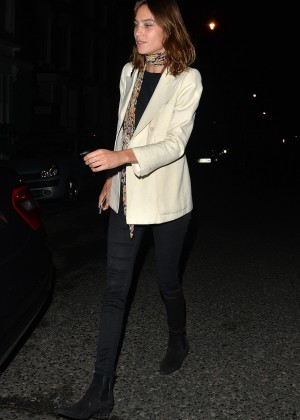 Alexa Chung - Night out in London