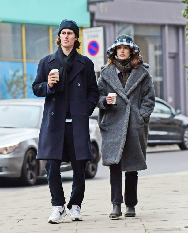 Alexa Chung - out for a walk in London