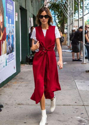 Alexa Chung - Proenza Fashion Show at 2016 NYFW in NYC