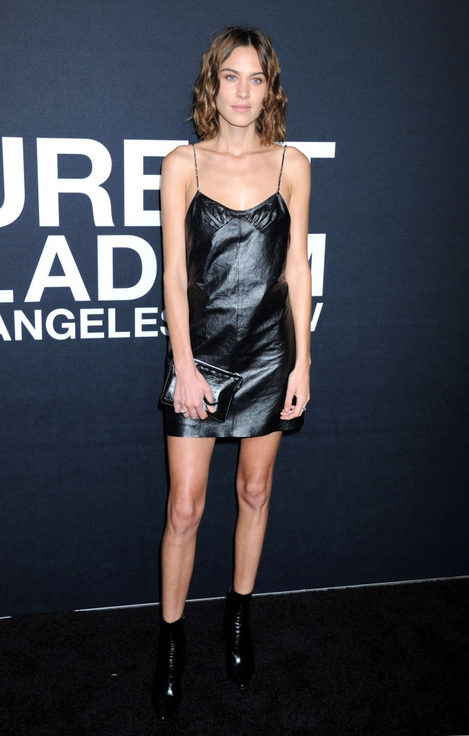 Alexa Chung - Saint Laurent Show in Los Angeles