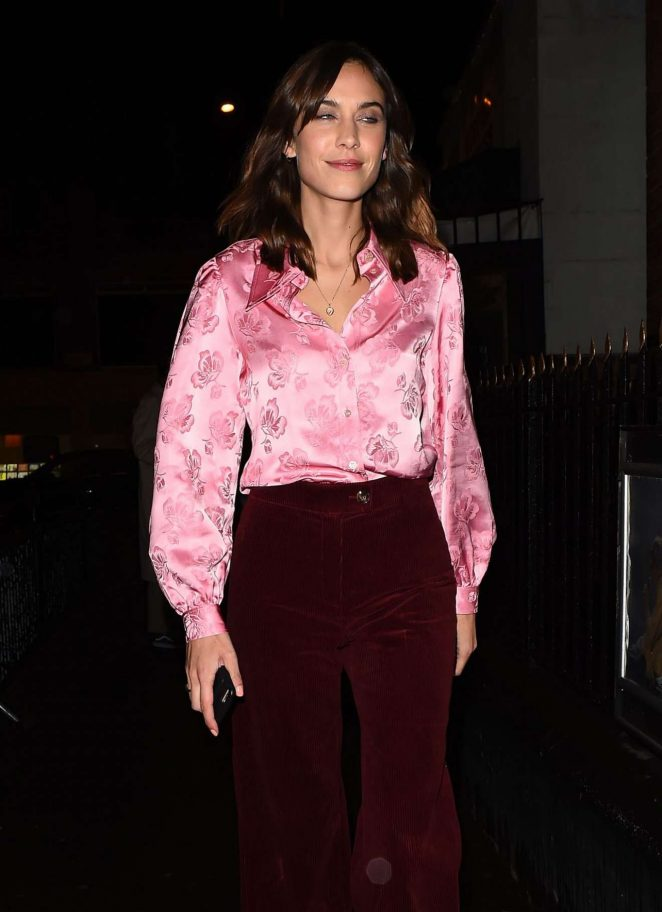 Alexa Chung – Visits Alexa Chung Clothing Range Launch London