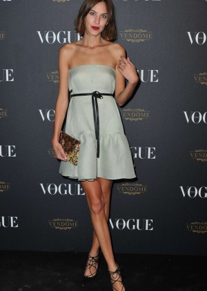 Alexa Chung - Vogue 95th Anniversary Party in Paris