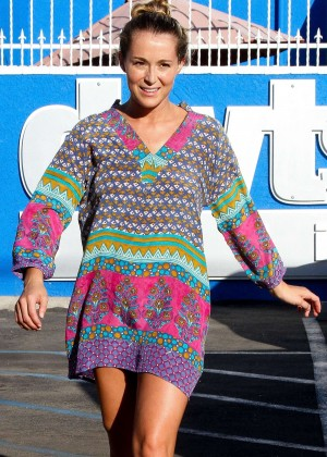 Alexa Vega in Mini Dress at DWTS Studio in Hollywood