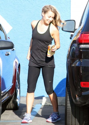 Alexa Vega in Spandex at DWTS Studio in Hollywood