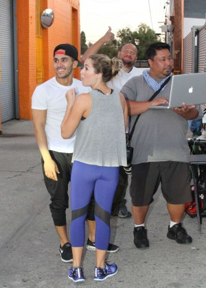 Alexa Vega in Spandex at the DWTS Studio in Hollywood