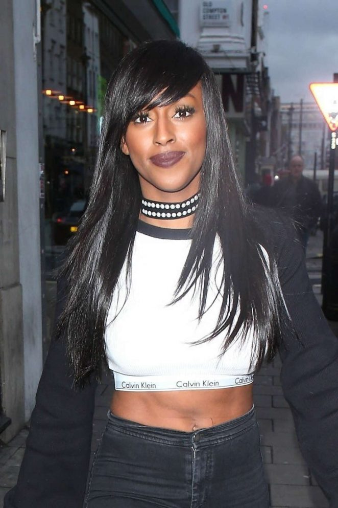 Alexandra Burke at Dean Street Studios in London