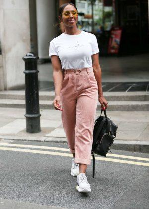 Alexandra Burke - Leaves Sunday Brunch Channel 4 in London