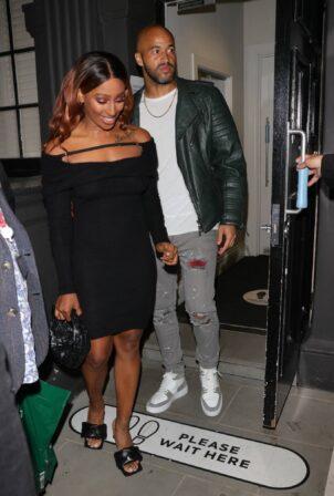 Alexandra Burke - Night out with boyfriend Darren Randolph on Gala Night in London