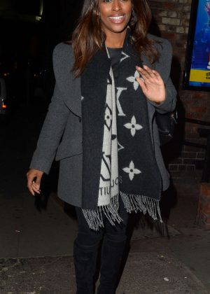 Alexandra Burke out in Liverpool
