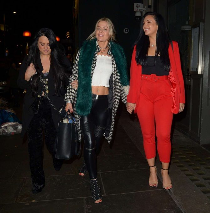 Alexandra Cane and Kate Lawler at Ours Restaurant in London