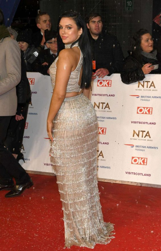 Alexandra Cane - In long dress at 2019 National Televison Awards in London