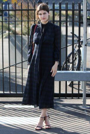 Alexandra Daddario - Arrives Coach fashion show during New York Fashion Week