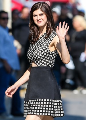 Alexandra Daddario - Arriving at 'Jimmy Kimmel Live!' in Hollywood