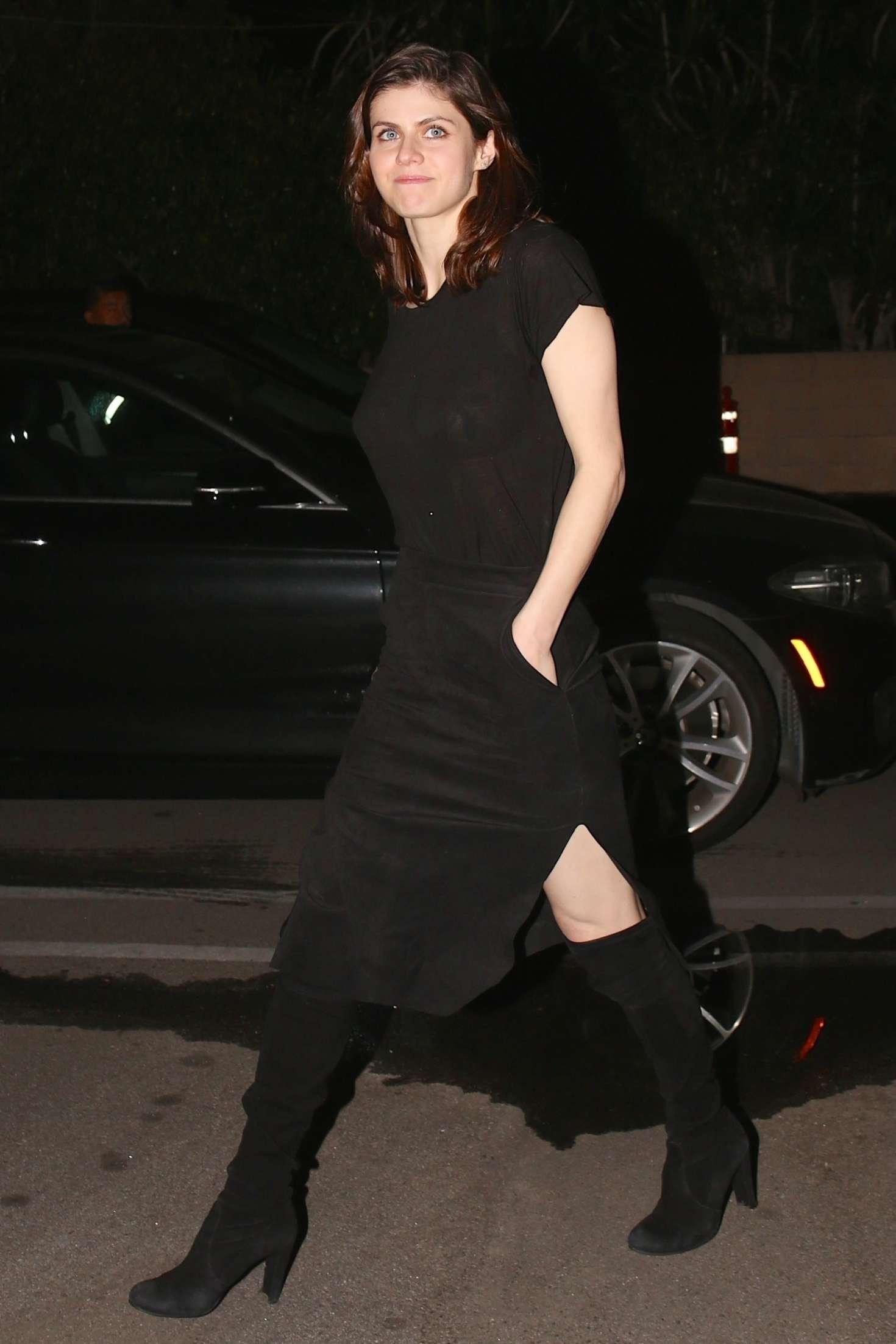 Alexandra Daddario at Matsuhisa Sushi Restaurant in Beverly Hills