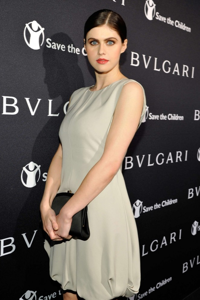 Alexandra Daddario - BVLGARI Save The Children STOP THINK GIVE Pre-Oscar Event in Beverly