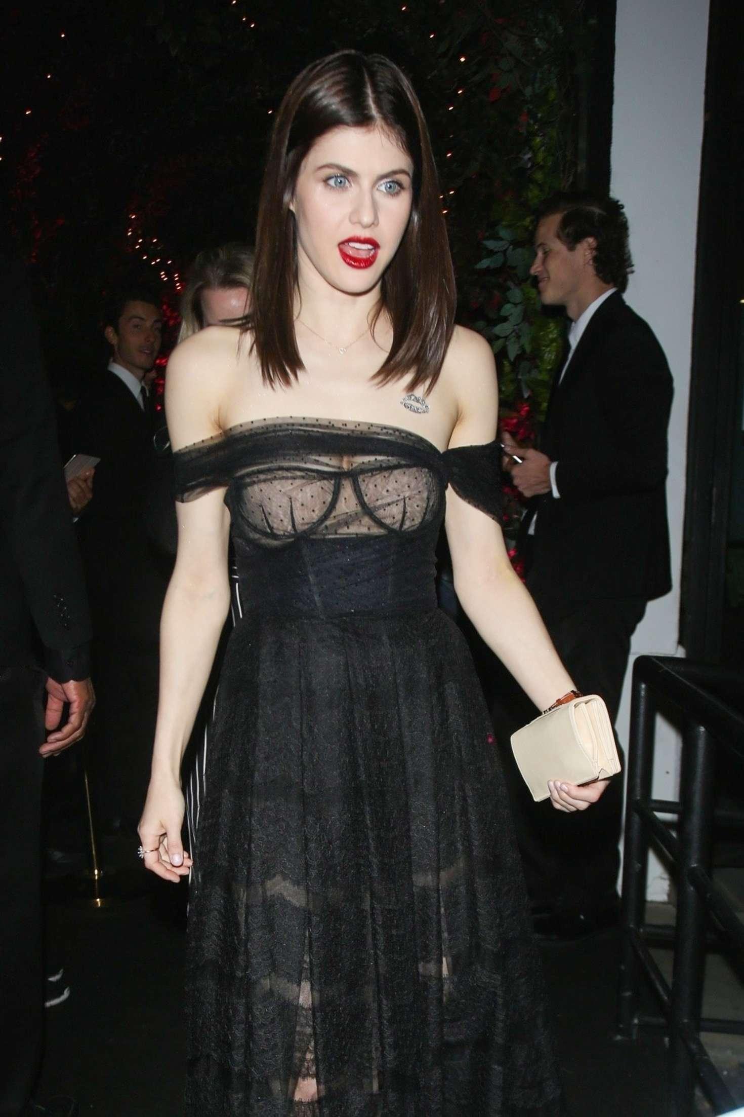 Alexandra Daddario Dior Addict Lacquer Pump Launch Party