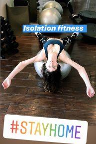 Alexandra Daddario Exercising - Instagram