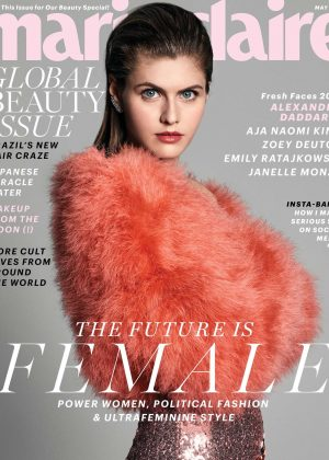 Alexandra Daddario for Marie Claire Magazine (May 2017)