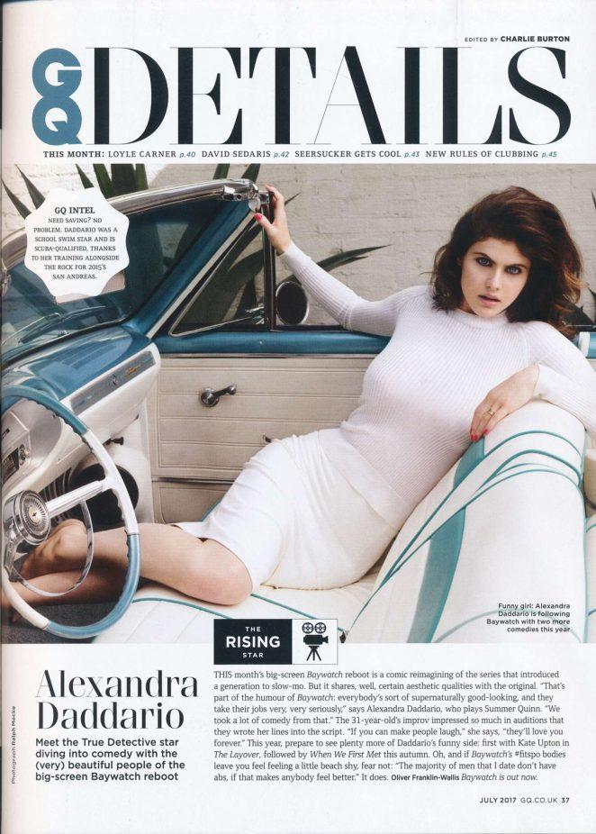Alexandra Daddario in GQ UK (July 2017)