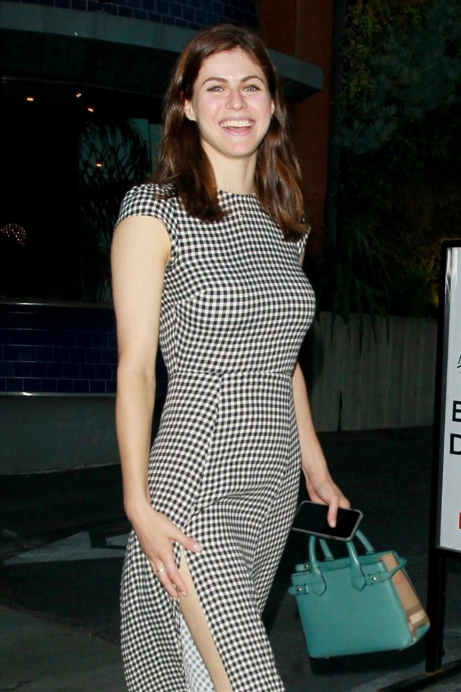 Alexandra Daddario in Long Dress - Out in Los Angeles