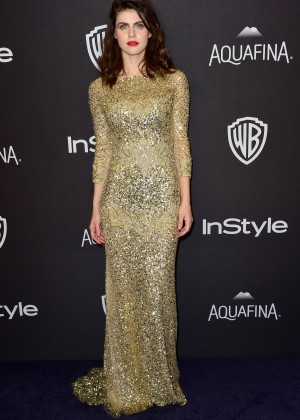 Alexandra Daddario - InStyle and Warner Bros 2016 Golden Globe Awards Post-Party in Beverly Hills