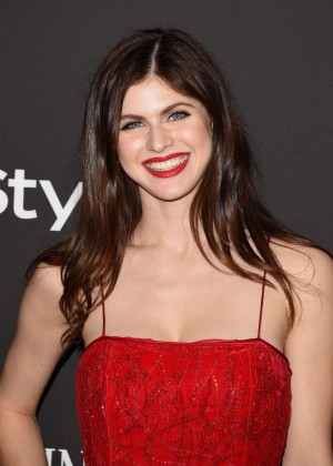 Alexandra Daddario - InStyle And Warner Bros Golden Globes Party 2015 in Beverly Hills