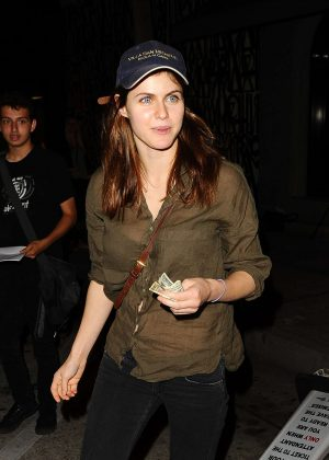 Alexandra Daddario - Leaving Craig's Restaurant in West Hollywood