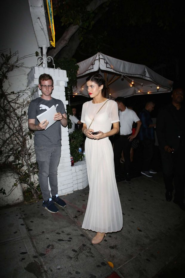 Alexandra Daddario: Leaving the Chateau Marmont-08