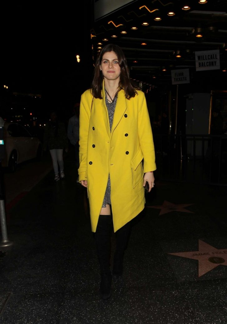 Alexandra Daddario - Leaving 'The Fonda Theatre' in Hollywood