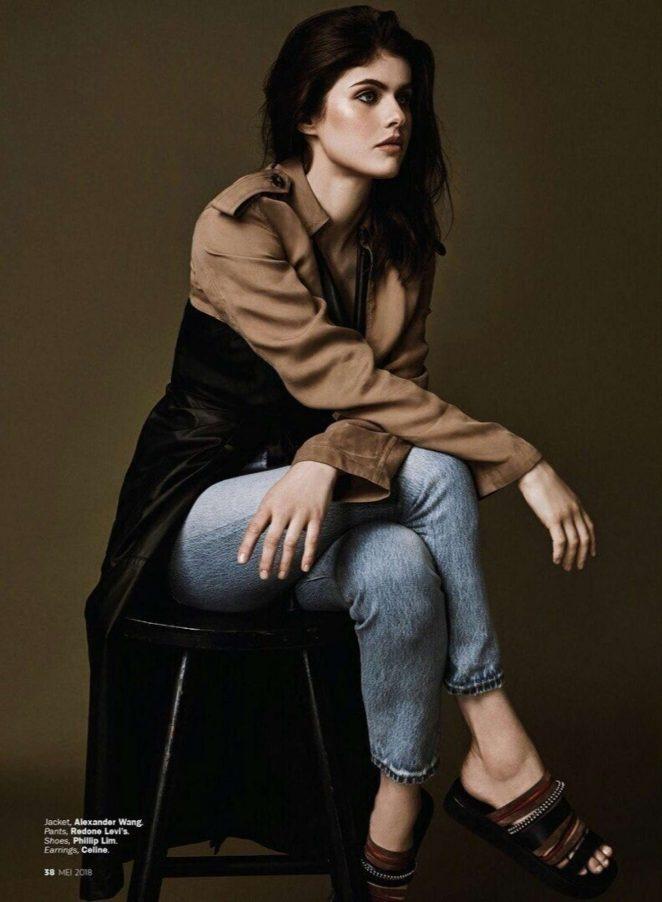 Alexandra Daddario: Marie Claire Indonesia 2018 -05