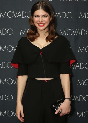 Alexandra Daddario - Movado and InStyle Holiday Celebration in NYC